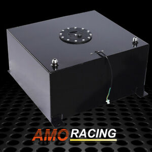 20 Gallon 80l Black Coat Aluminum Racing Drift Fuel Cell Tank W Cap Level Sender