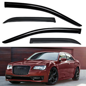 For 2011 2020 Chrysler 300 Dark Smoke Window Visors Sun Rain Guards Vent Shade