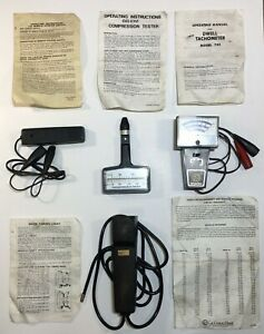 Vintage Cal Hawk Dwell Tach Compression Tester Neon Timing Light Remote Start