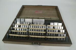 L s Starrett 81 Piece Gage Block Set incomplete Webber Gage Division Rs84a1
