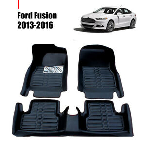 Car Floor Mats Front Rear Liner Waterproof Mat Fits For Ford Fusion 2013 2016
