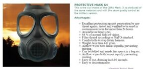 Full Face Facepiece Civilian Forsheda Respirator Mask With Cbrn Filter Suit