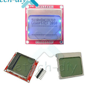 Diy White blue 84 48nokia 5110 Lcd Display Screen Module Module For Arduino L2kd