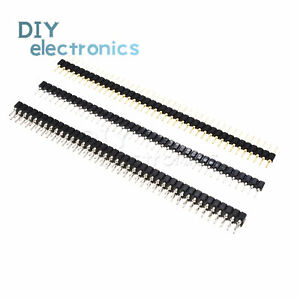 Header Strip Connector 40pin 2 54mm Round Male female Single double Straightl2kd
