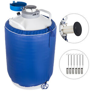 15l Liquid Nitrogen Tank Cryogenic Container Ln2 Dewar 6pcs Pails lock Cover