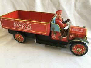 XONEX Limited Edition COCA-COLA 1930s DELIVERY TOY TRUCK Tin Litho Reproduction