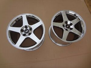 2003 2004 Mustang Svt Cobra Chrome 10 5 Wide Rear Rims Wheels 17 Sku Vv827