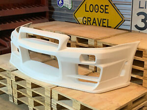 Fiberglass C34 To R34 Gtr Conversion Style Front Bumper For 01 07 Nissan Stagea