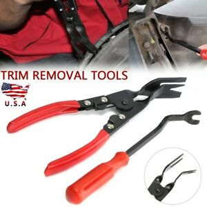 2pcs Car Door Trim Panel Removal Tool Kit Pliers Clip Upholstery Removal Pry Us