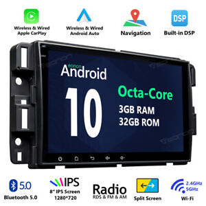 Android 10 8 Lcd Tft Car Stereo Radio Gps Bluetooth Dsp For Chevrolet Traverse