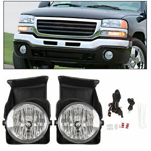 03 06 Gmc Sierra Pickup Bumper Fog Lights Lamps Left right 2003 2004 2005 2006