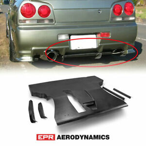 Frp Unpainted Esb Style Fit For Nissan Skyline R34 Gtt Er36 Rear Under Diffuser