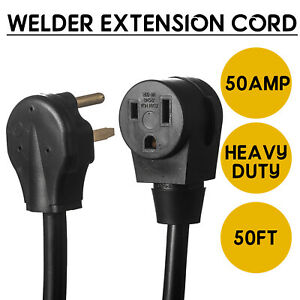50ft 220v 50 Amp Heavy Duty 10 3 Welder Extension Cord Wire For Mig Tig Plasma