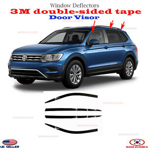 2s Tape Door Visor Smoke Window Vent Deflector For Volkswagen Tiguan 18 206pcs