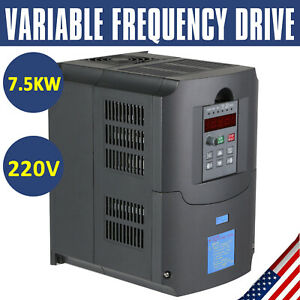 Single To 3 Phase 7 5kw 10hp 220v Variable Frequency Drive Inverter Cnc Vfd Vsd