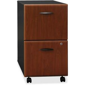 Bush Business Furniture Series A 2 Drawer Mobile File Cabinet Assembled