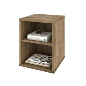 Fom End Table In Rustic Brown