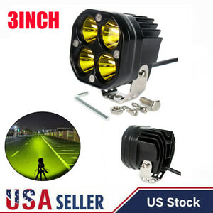 3 Inch Yellow Spot Led Work Light For 4x4wd Off Road Car Driving Spotlights Usa