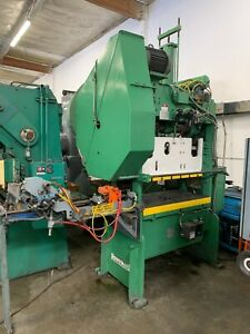 60 Ton Rousselle Straight Side Double Crank Press No 6ss44