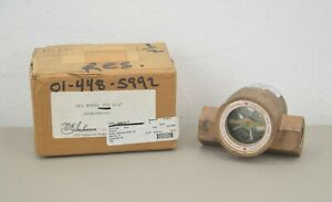 New W e Anderson Model 300 Midwest Sight Flow Indicator Size 1 2 Max Psig 125