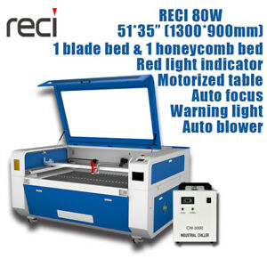 80w Reci W1 Co2 Laser Cutting Machine 51 35 Laser Engraver Motorized Table