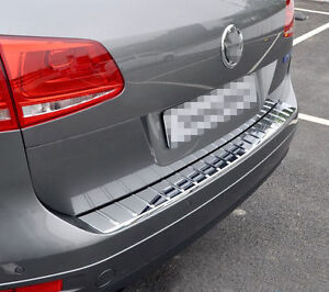 For Vw Touareg 11 18 Abs Oem Car Rear Trunk Bumper Protector Guard Cover Trim