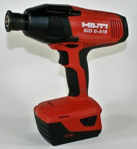 Hilti Sid 8 a18 Cordless Impact Driver Drill 21 6v With B 18 5 2 Li ion Battery
