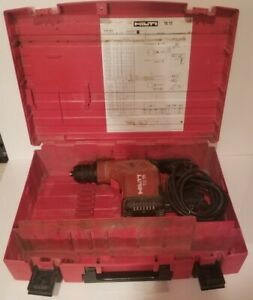 Hilti Te15 Rotary Hammer Drill W case Tested works Great