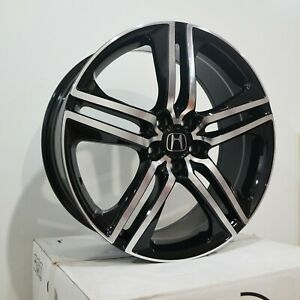Set Of 4 Wheels 19 Inch Black Machined Rims Fits Honda Civic Coupe 2012 2018