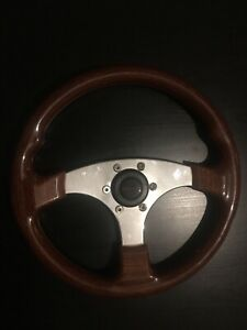 Raid 3 Spoke Wooden Vintage Steering Wheel Very Good Condition