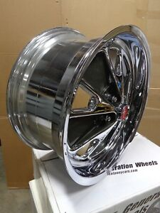 2005 2014 Mustang Retro Styled Mag Wheels 20x9 20x10 Staggered Fitment Set Of 4