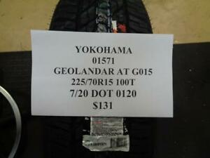 1 New Yokohama Geolander At G015 225 70 15 100t Tire 01571