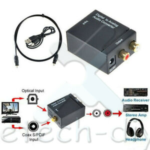 Optical 3 5mm Coaxial Toslink Digital To Analog Audio Converter L r Kit L2kd