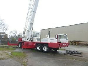 Link Belt 50 Ton Htc 50w Telescopic 35 90 Boom Truck Crane W 32 Jib New Tires