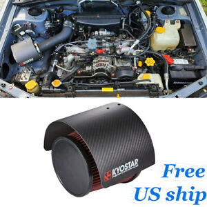 Kyostar 2 25 3 Real Carbon Fiber Cone Air Filter Heat Shield Cover Universal