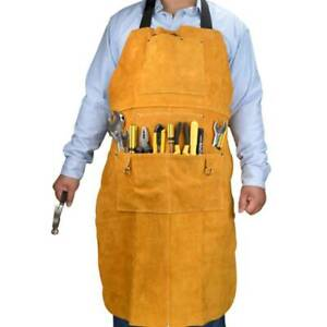 Leather Welding Work Apron Heat Resistant Flame Resistant Bib Apron 24 X 36