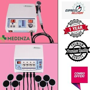 Professional Ultrasound 1 Mhz Therapy 4 Channel Electrotherapy Combo Pack Unit