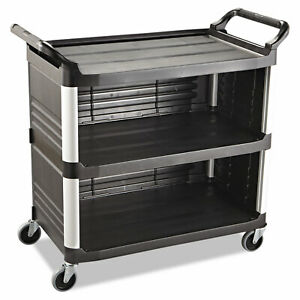 Rubbermaid Commercial Xtra Utility Cart 300 lb Cap Three shelf 20w X 40 5 8d X
