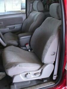 1999 2004 Toyota Tacoma Exact Fit Durafit Seat Covers Sports Buckets Black gray