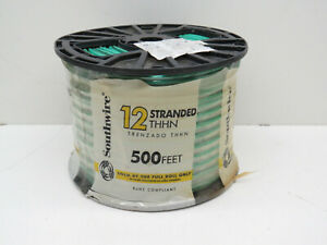 500ft Roll Southwire 12 Stranded Thhn Building Wire 12awg Green New Old Stock