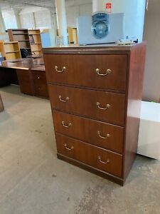 4 Drawer Lateral Size File Cabinet By Ofs Office Furniture In Cherry Color Wood