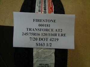 2 New Firestone Transforce At2 245 75 16 120 116r Lre Tires 000181
