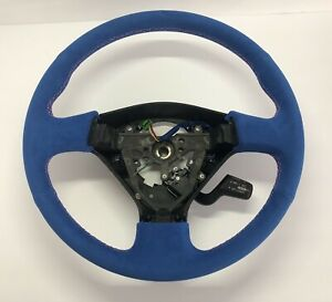 Custom Subaru Wrx Sti Steering Wheel Suede Rally Blue Pink 2005 2007 W Cruise