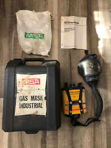 Vintage Msa Us Military Gas Mask With Case Department Of Interior Mines Mining