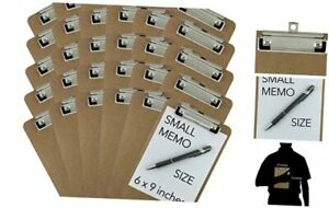 Trade Quest Memo Size 6 X 9 Clipboards Low Profile Clip Hardboard pack Of 3