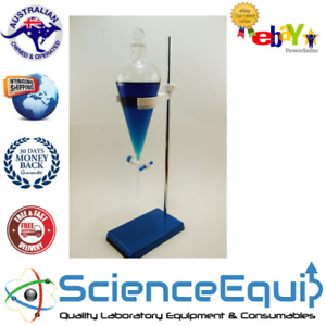 Separatory Funnel Kit Separating Ptfe Stopcock Funnel Holder metal Stand 125ml