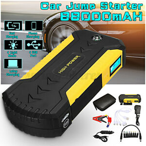 88000mah 12v 4 Usb Auto Car Jump Starter Pack Booster Charger Battery Power Bank