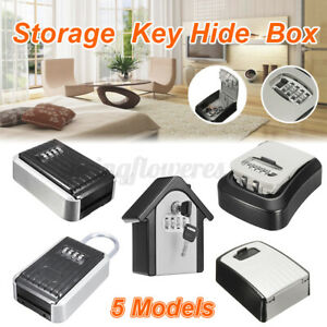 Outdoor Storage Key Hide Box Wall Mounted Combination 4 Digit Lock Lockout Bh005
