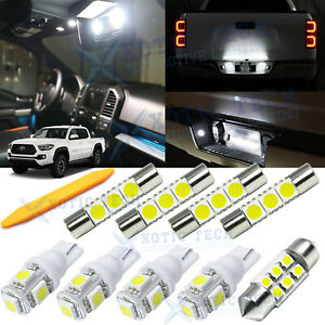 9x White Led Interior Lights Package Kit For Toyota Tacoma 2016 2019 2020 Tool