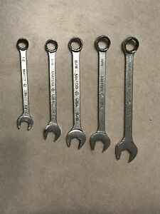 5pc Matco Tools 12 Point Combination Sae Wrench Set 1 2 3 4 Wch162 Wch242